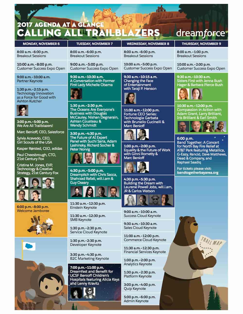 agenda dreamforce 2017